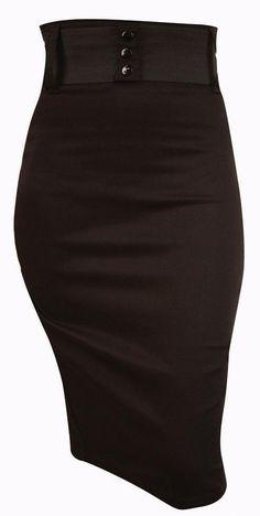 www.brokencherry.com Waist Belt Skirt  $52.00 The ever essential pinup pencil skirt.