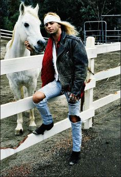 Now my life is complete.... Brett Michael's with a horse. Love:-)