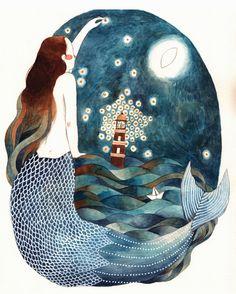 "lohrien: "" Illustrations by Gemma Capdevila """