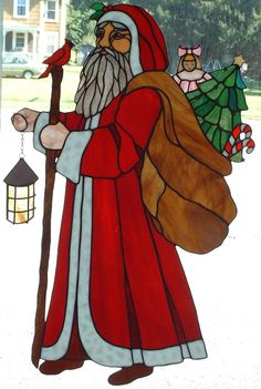 Hey, I found this really awesome Etsy listing at https://www.etsy.com/listing/214648748/santa-bearing-gifts-stained-glass