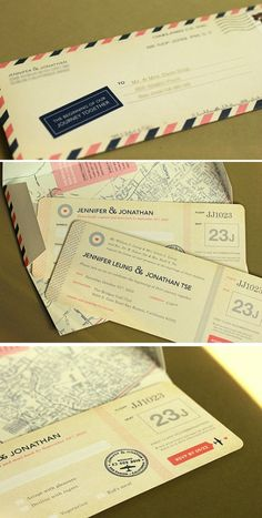 Want to do these invitations for my destination wedding some day! So original!