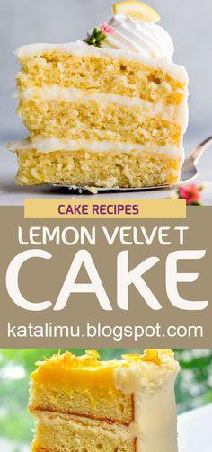 Lemon velvet cake | cake recipe, dessert recipes, chocolate cake recipe, carrot cake recipe, chocolate cake, easy cake recipes, cheesecake recipe, easy dessert recipes, baking recipes, sponge cake recipe, simple cake recipe,fruit cake recipe,vanilla cake recipe,pound cake recipe,chocolate recipes,apple cake recipe. #cakerecipe #lemonvelvetcake #lemonvelvet #dessertrecipes Sponge Cake Recipes, Apple Cake Recipes, Pound Cake Recipes, Lemon Recipes, Easy Cake Recipes, Cheesecake Recipes, Chocolate Recipes, Sweet Recipes, Baking Recipes