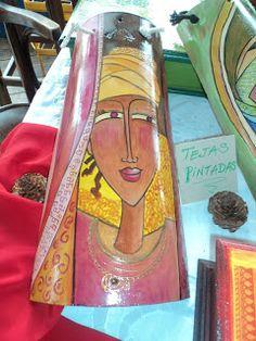 Teja decorada de Creaciones Sol Inspiradas para escribir este post, gracias a Sandra Profiri , experta en el arte de reciclar, de Creaci...