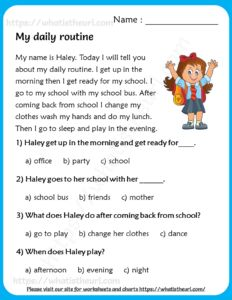 Online Reading Comprehension, Picture Comprehension, Phonics Reading, Kindergarten Reading, 3rd Grade Reading Comprehension Worksheets, English Worksheets For Kids, English Lessons For Kids, Reading Worksheets, English Conversation For Kids
