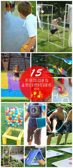 15 Fun Outdoor DIY Projects for Kids | Click for Full Tutorials