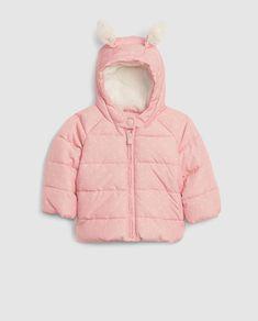 516148e10 Parka de bebé niña Gap en rosa con capucha