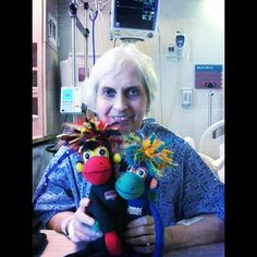 Holy cow. Mom is like a completely different person today. She's perky and feisty, just the way we like her. She even put on a little makeup.   Phoenix and NoMo spent the night, helped her get some good rest and worked their SMAC! mojo magic. Amazing progress. So awesome.   I am going to show Mom all of your messages today. She will be overwhelmed. Thanks for all of YOUR mojo. Keep it comin'.   Love ya bunches.