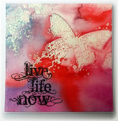 Visible Image stamps - Butterfly - Live Life Now - Susanne Rose