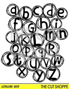 The Alphabet Soup cut file is a background that by TheCutShoppe
