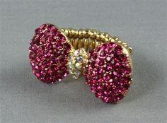Fuschia Bow Ring