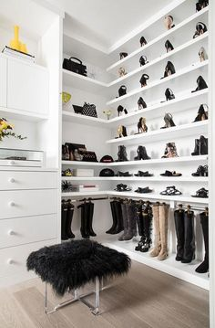 Shelf for boots