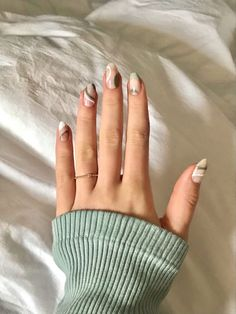 French Tip Acrylic Nails, Acrylic Nails Coffin Short, Simple Acrylic Nails, Almond Acrylic Nails, Best Acrylic Nails, Almond Nails, French Nails, Edgy Nails, Funky Nails