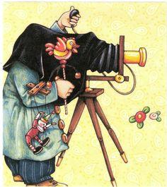 Baby Child Photographer Clown Puppet Duck Rattle Magnet Mary Engelbreit Artwork | eBay