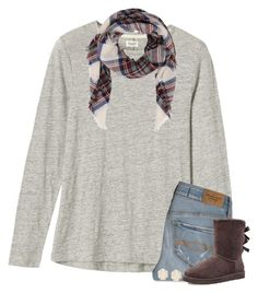 """""""QOTD"""" by meljordrum ❤ liked on Polyvore featuring Toast, Abercrombie & Fitch, UGG Australia and Kendra Scott"""