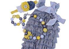 Gray & Yellow Gift Set