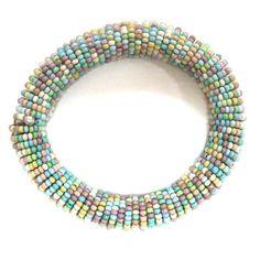 Gypsy Soule Pastel & Blue Stretch Beaded Bracelet DB514D