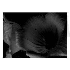 Monochrome Flower Card
