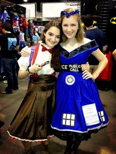 Met these awesomely adorable girls at Heroes Con last month.  #DoctorWho  #HeroesConvention