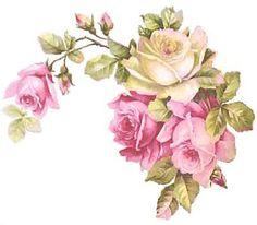 Preciosa bávaro Roses & Shabby Calcomanías tobogán esquinas: