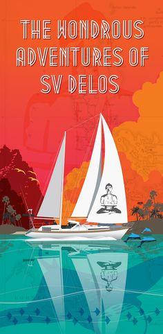 Sail boat illustration for SV delos