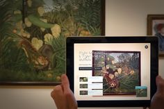 Cleveland Museum of Art interactive exhibits incorporate the iPad into the museum. Interaktives Museum, Museum Exhibition, Exhibition Stands, Exhibition Booth, Ipad 4, Interaktives Design, Stand Design, Booth Design, Media Design