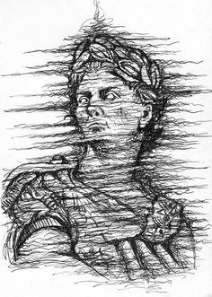 Print, Ancient, Drawings, Julius Caesar, Art, Original Drawing, Downloadable Print