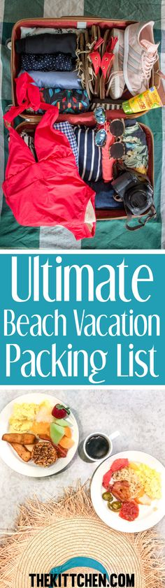 This beach vacation packing list will help you prepare for sun and sand., Beach Outfits, This beach vacation packing list will help you prepare for sun and sand. This is the time of year when I am ready to escape Chicago's chilly temps a. Vacation Meal Planning, Beach Vacation Packing List, Beach Vacation Outfits, Myrtle Beach Vacation, Beach Trip, Summer Beach, Summer Time, Food Pack, Beach Meals