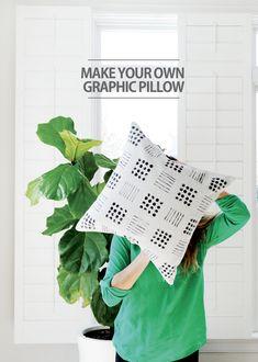 DIY Graphic Pillows Tutorial