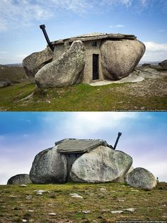 Top 10 Strangest buildings in the World | Incredible Pictures The stone house in Portugal really resembles the famous home of the Flintstones. It is built between two rocks and its architecture has impressed some of the greatest names of the branch.