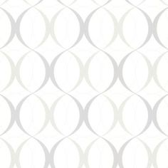 Beacon House 56 sq. ft. Circulate White Retro Orb Wallpaper-450-67352 at The Home Depot