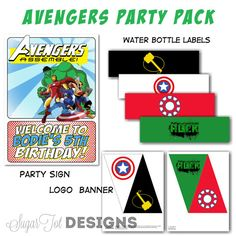 Avengers Party Avengers Party Door Sign Cupcake by SugarTotDesigns, $25.00