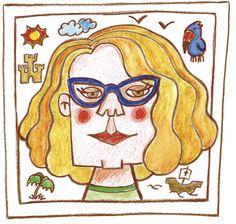 Caricatura de la ilustradora para el libro Cristóforo y los esgaguetis