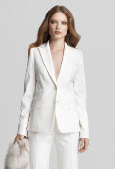 Womens Suit Jacket Beechwood Brown - Pinstripe Business Suit ...