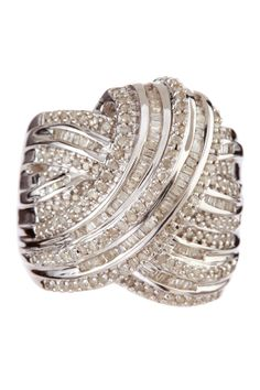 Bold Baguette Pave Diamond Cocktail Ring I don't even like this ring that much, it's just the name: baguette....like what I make bruschetta with???