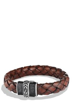 David Yurman Leather Bracelet