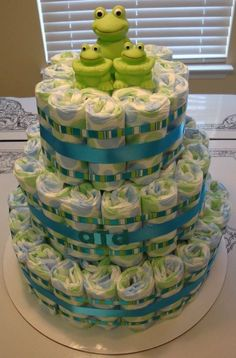 Special!! Purchase any diaper cake before October 31, 2011 and receive a diaper wreath FREE! $40