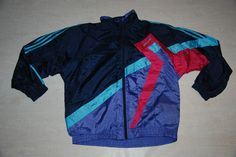 VINTAGE ADIDAS TRACKSUIT TOP JACKET SHINE NYLON BLUE PURPLE IBIZA XL XXL GB46/48