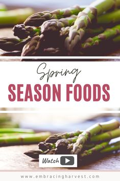 What's in season in Spring? Learn about 5 amazing spring season foods to add to your diet right now to start eating seasonally today. Plant Based Whole Foods, Plant Based Diet, New Recipes, Whole Food Recipes, Healthy Recipes, Healthy Life, Healthy Eating, Healthy Food, Natural Living