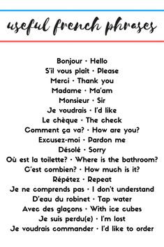 16 Best French Travel Phrases images in 2017 | How to speak french