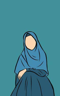 Doodle Drawings, Cartoon Drawings, Cartoon Wallpaper, Wallpaper Quotes, Hijab Drawing, Islamic Cartoon, Anime Muslim, Hijab Cartoon, Love In Islam