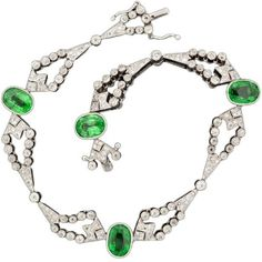 Pre-owned Tsavorite And Diamond Bracelet ($6,875) ❤ liked on Polyvore featuring jewelry, bracelets, modern bracelets, multiple, green jewelry, green diamond jewelry, pre owned jewelry, diamond bangles and diamond jewellery