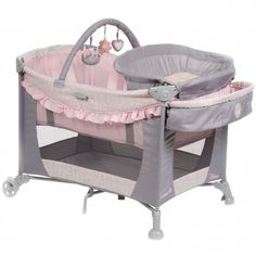 Disney Princess Silhouette Care Center™ Play Yard. She'll love spending time surrounded by the soft pink fabric featuring Disney Princess themed prints!