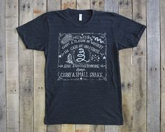 Whiskey And Snakes Tshirt by KrisJohnsen on Etsy