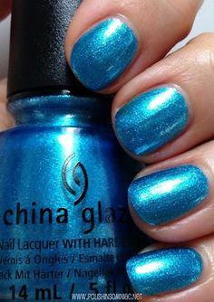 China Glaze Happy HoliGlaze 2013. So Blue Without You is a gorgeous bright blue shimmery foil.
