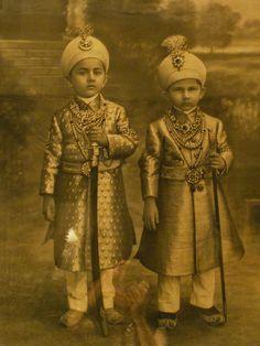 Princes Mukarram Jah and Mukhaffam Jah of Hyderabad