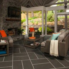 Photo: Deborah Whitlaw Llewellyn | thisoldhouse.com | from How to Paint a Porch Floor With Big-Block Basketweave