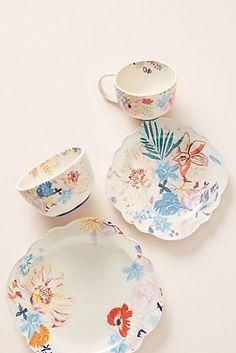 Alicia Galer Galia Dinner Plates, Side Plates, Bowl and Mug, Set of 4 Dinner Plate Sets, Dinner Plates, Dessert Plates, Ikebana, Stoneware Dinnerware Sets, Art Japonais, Ceramic Spoons, Side Plates, Teller