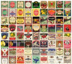 étiquettes boissons vintage french labels