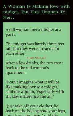 A woman was making love with Midget but she didn't expect this