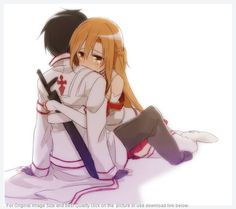 Don't you just want to squee when you see this? XD | Asuna and Kirito |